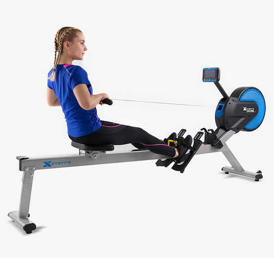 A rowing girl on xterra erg700 rower