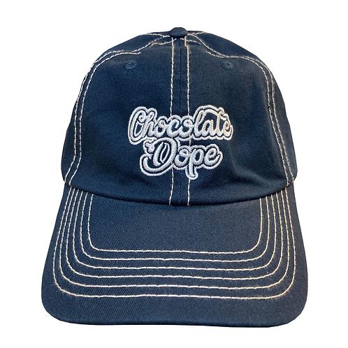Navy Stitch Dad Hat