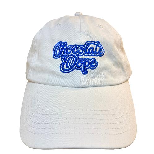 Dad hat white blue