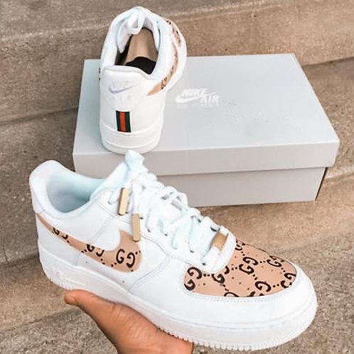 Nike AF1 Gucci Print