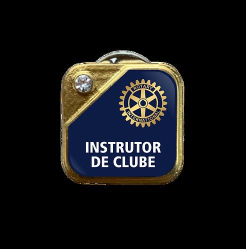 Distintivo Rotary Instrutor de Clube - Azul c/ Strass