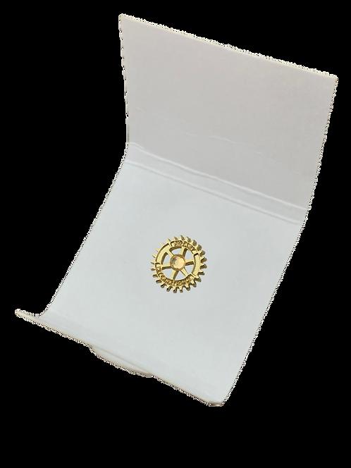 Distintivo Rotary - Marca de Excelência Dourada c/ Pedra