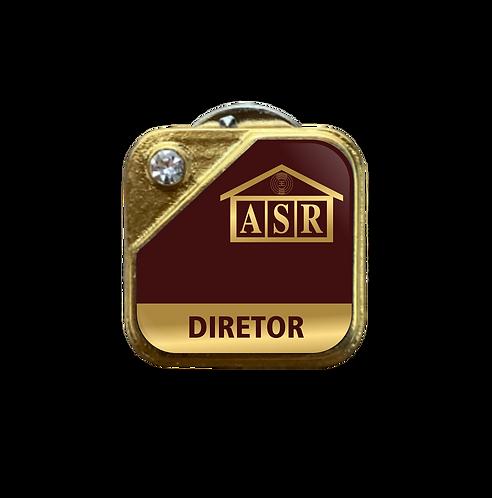 Distintivo ASR Diretor - Bordô c/ Strass