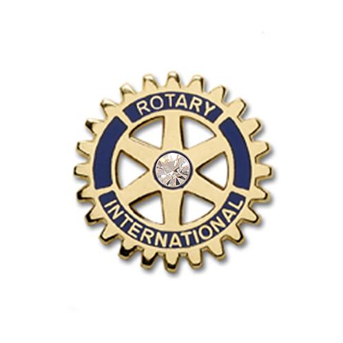 Distintivo Importado Rotary com Strass