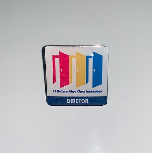 Pin do Lema Rotário 2020-21 com o cargo de DIRETOR