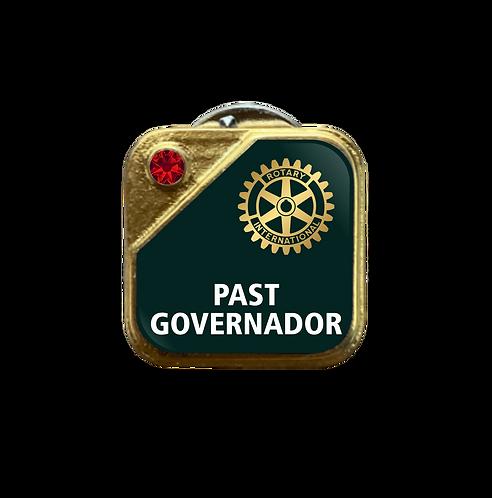 Distintivo Rotary Past Governador - Verde c/ Strass