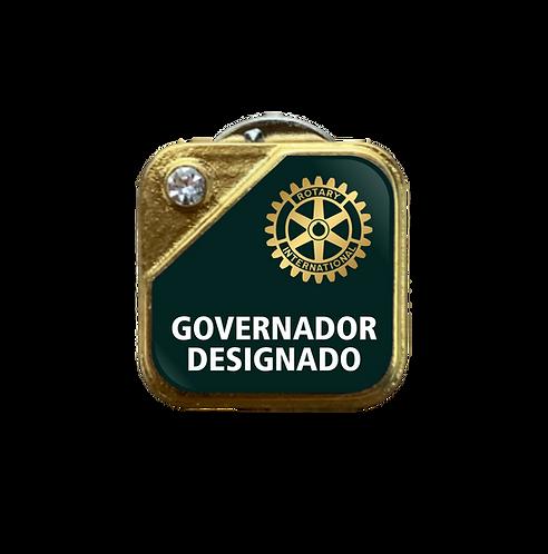 Distintivo Rotary Governador Designado - Verde c/ Strass