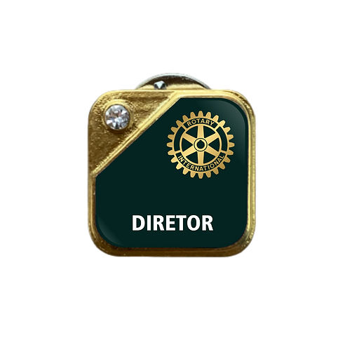 Distintivo Rotary Diretor - Verde c/ Strass