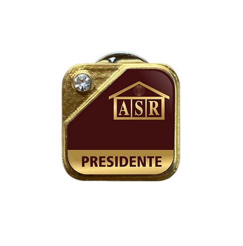 Distintivo ASR Presidente - Bordô c/ Strass