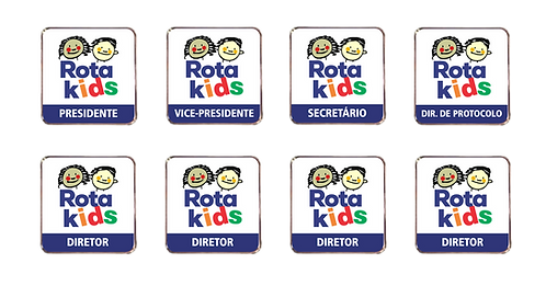 Kit Pins Conselho Diretor do RotaKids