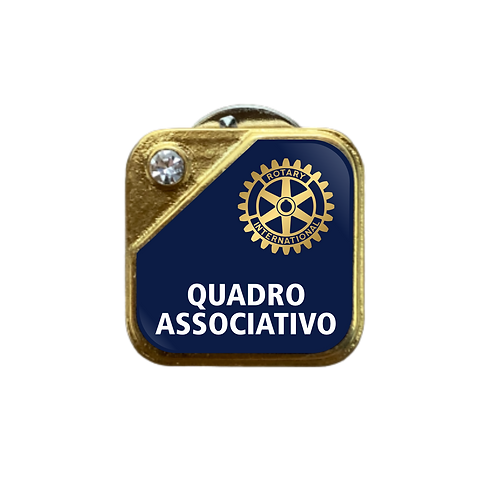 Distintivo Rotary DQA - Azul c/ Strass