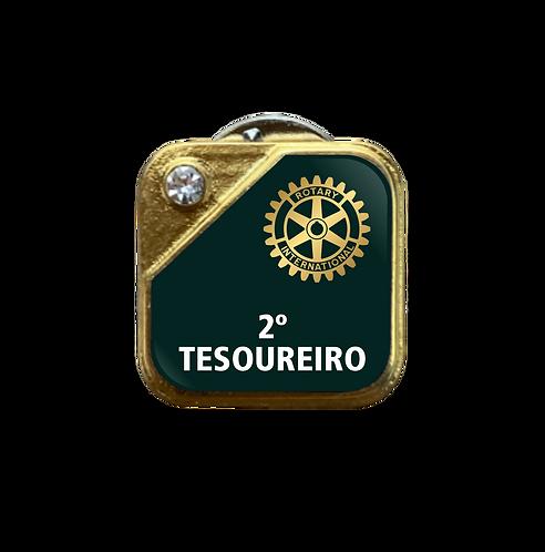 Distintivo Rotary 2º Tesoureiro - Verde c/ Strass