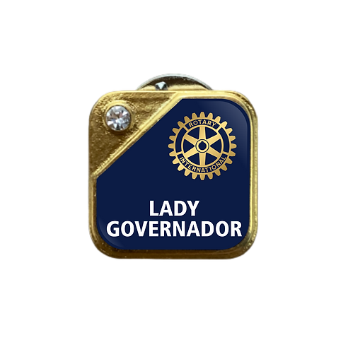 Distintivo Rotary Lady Governador - Azul c/ Strass