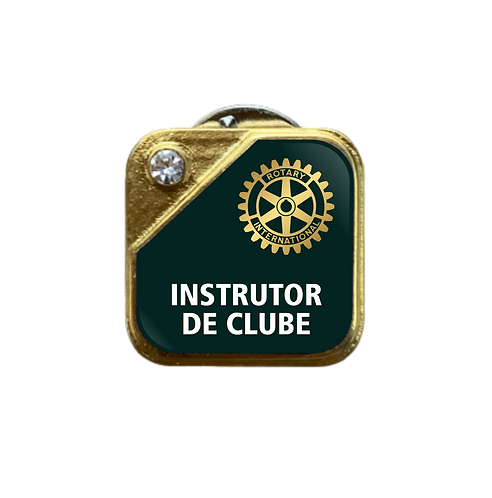 Distintivo Rotary Instrutor de Clube - Verde c/ Strass