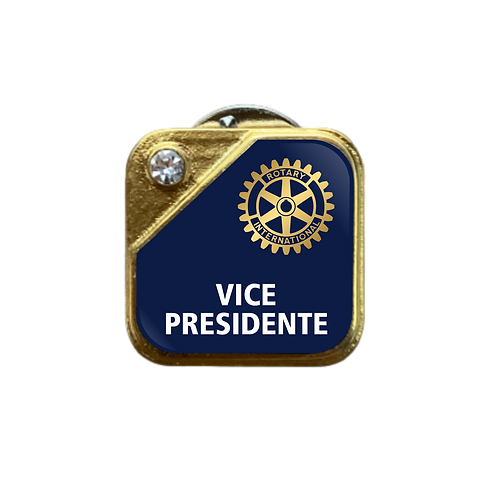 Distintivo Rotary Vice-Presidente - Azul c/ Strass