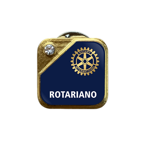 Distintivo Rotary Rotariano - Azul c/ Strass