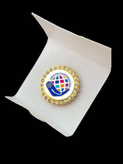 Pin Lema Rotário2021-22 c/ STRASS