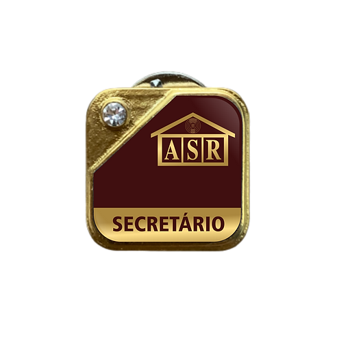 Distintivo ASR Secretário - Bordô c/ Strass