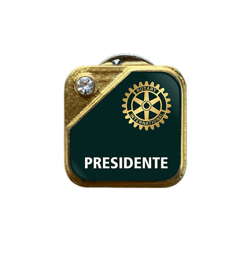 Distintivo Rotary Presidente - Verde c/ Strass