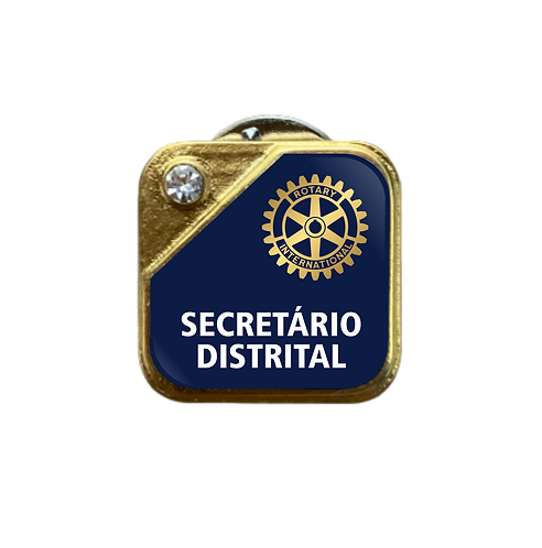Distintivo Rotary Secretário Distrital - Azul c/ Strass