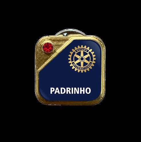 Distintivo Rotary Padrinho - Azul c/ Strass