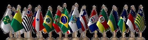 Kit Bandeiras de Mesa - BRASIL E ESTADOS