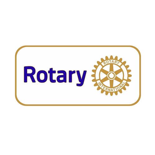 Distintivo Rotary Branco