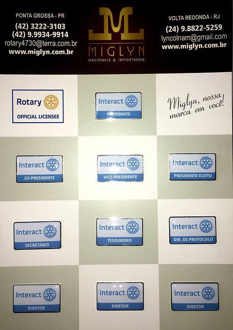 Pins Kit Conselho Diretor Interact (Branco)