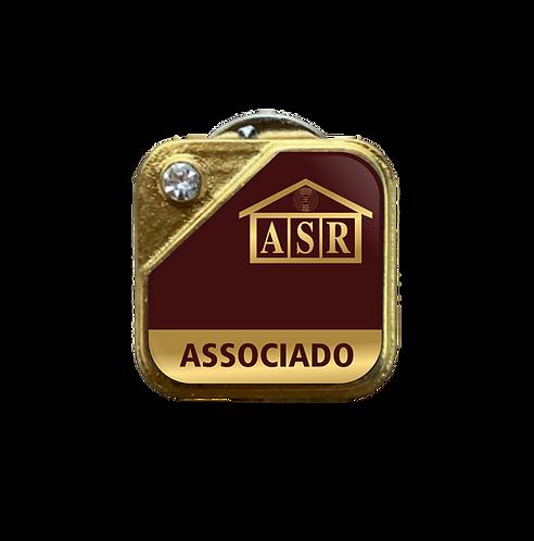 Distintivo ASR Associado - Bordô c/ Strass