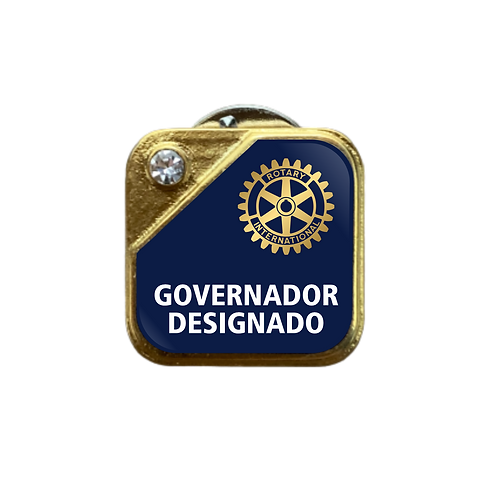 Distintivo Rotary Governador Designado - Azul c/ Strass