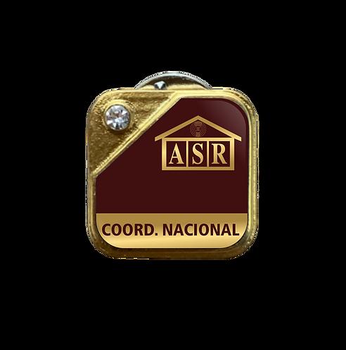 Distintivo ASR Coord. Nacional - Bordô c/ Strass