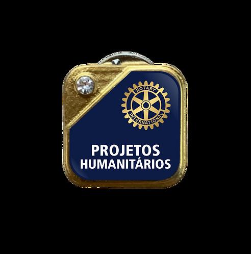 Distintivo Rotary Projetos - Azul c/ Strass