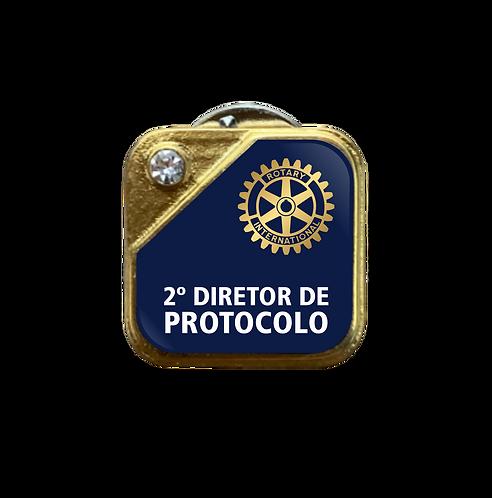Distintivo Rotary 2º Dir. de Protocolo - Azul c/ Strass