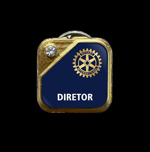 Distintivo Rotary Diretor - Azul c/ Strass