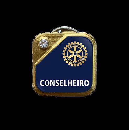Distintivo Rotary Conselheiro - Azul c/ Strass