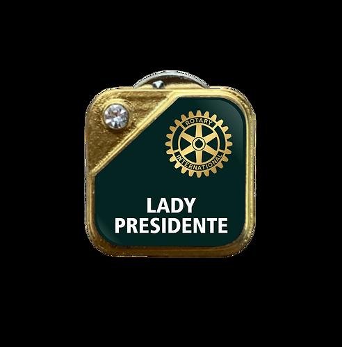 Distintivo Rotary Lady Presidente - Verde c/ Strass