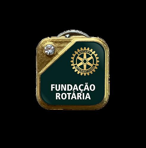Distintivo Rotary Fundação Rotária - Verde c/ Strass