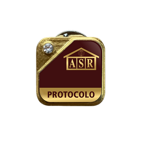 Distintivo ASR Protocolo - Bordô c/ Strass
