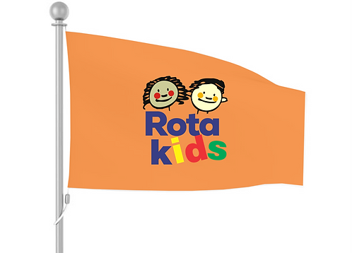Bandeira RotaKids (Fundo Amarelo)