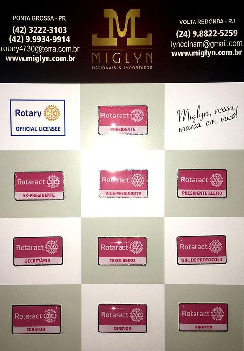 Pins Kit Conselho Diretor Rotaract (Vermelho)