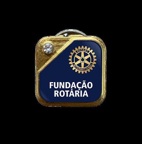 Distintivo Rotary Fundação Rotária - Azul c/ Strass