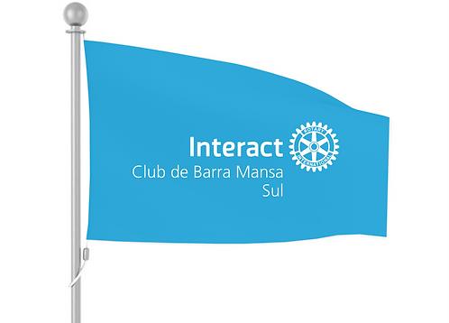 Bandeira Oficial Interact (Fundo Sky Blue)