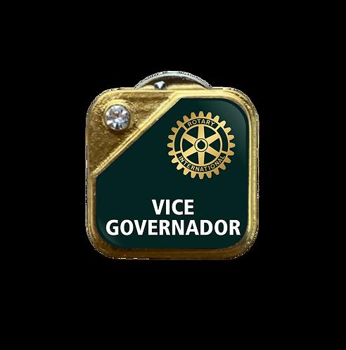 Distintivo Rotary Vice-Governador - Verde c/ Strass