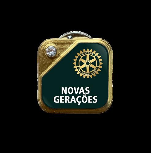 Distintivo Rotary Novas Gerações - Verde c/ Strass