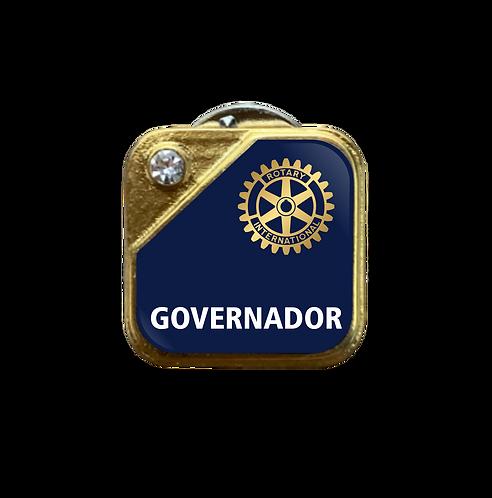 Distintivo Rotary Governador - Azul c/ Strass