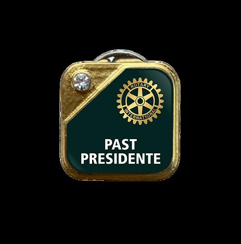 Distintivo Rotary Past Presidente - Verde c/ Strass