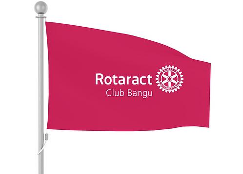 Bandeira Oficial Rotaract (Fundo Cranberry)