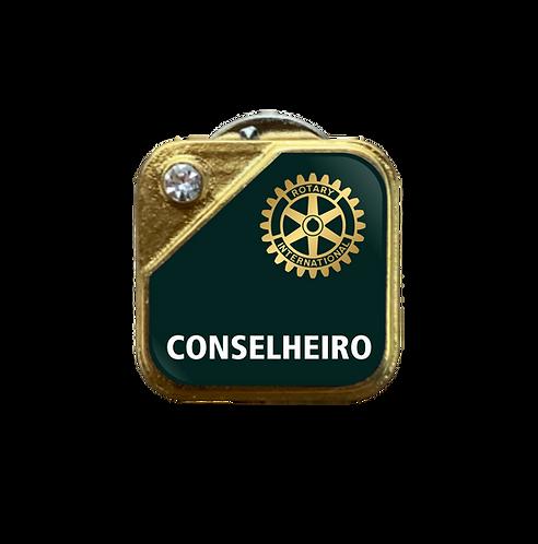 Distintivo Rotary Conselheiro - Verde c/ Strass
