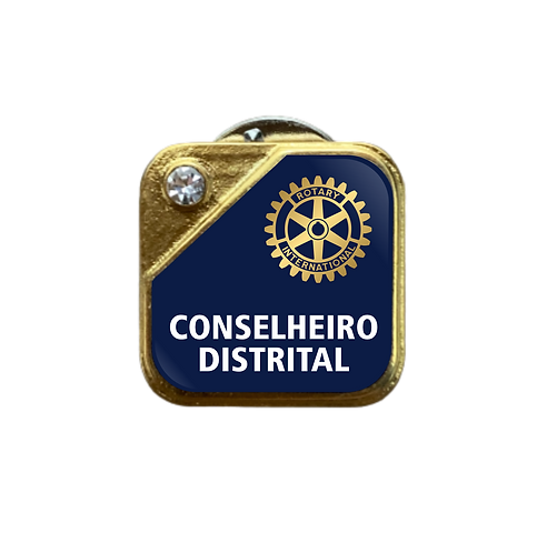 Distintivo Rotary Conselheiro Distrital - Azul c/ Strass