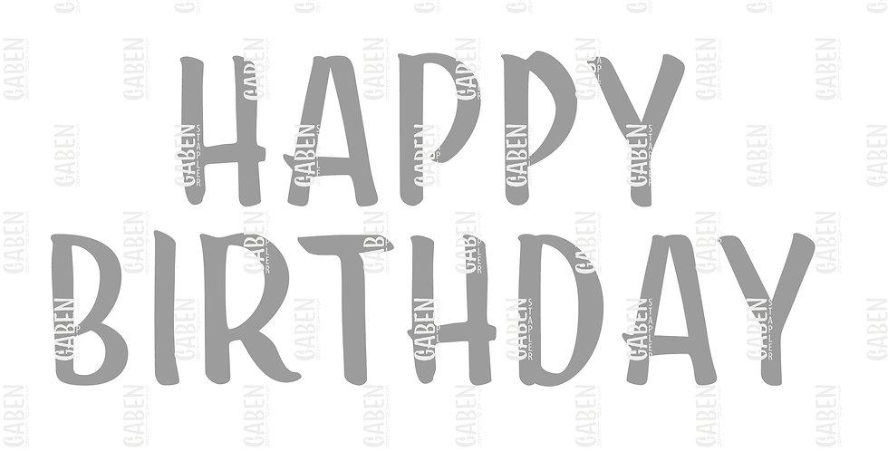 """Textil Plot """"Happy Birthday"""""""